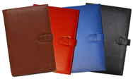 British Tan, Red, Blue & Black Leather Notebooks