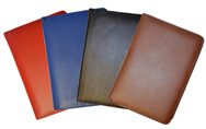 Red, Blue, Black & British Tan Leather Hardcover Bound Notebook
