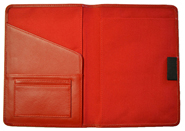 Leather Bound Notebook Red