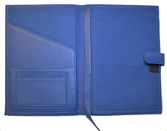 Leather Refillable Notebook Blue