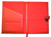 Leather Refillable Notebook Red