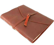 Wrapped Leather Covered Notebooks